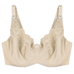 Image 4 - Mulheres Sem Forro Sutiã Sutiãs Cobertura Total Plus Size Bordado Não acolchoado Bra Bralette Underwire Underwear 36 46C/D/DD/DDD/E/F/G