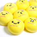 10CM Cute Face Bread Bun Squishy Charms jumbo Squishy Kaomoji Soft Bun Yellow Japanese Motion Bread Cellphone Straps Slow Rising