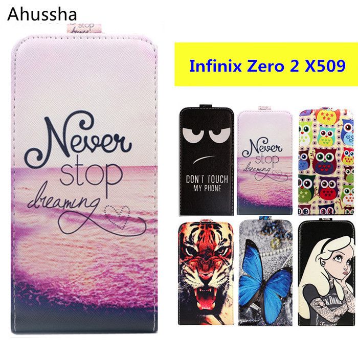 "Newest Luxury Cartoon Print 5"" Flip Up and Down PU Leather Case Cover For Infinix Zero 2 X509 Cases Cover Phone Bags,Gift"