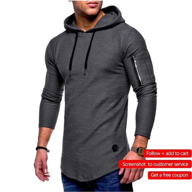 De fibra de bambú de los hombres T camisa de los hombres de Primavera Verano camiseta de los hombres Camiseta de algodón de manga larga de culturismo plegable camiseta de los hombres