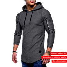 Men's Bamboo Fiber T Shirt Men's Spring  Summer T-Shirt Top Men's Long Sleeve Cotton T-Shirt Bodybuilding Folding T-Shirt Men(China)