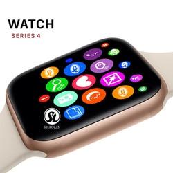 ゴールド色のスマートシリーズ 4 スポーツスマートウォッチのための 42 ミリメートル時計 apple iphone 6 7 8 × プラス samsung スマート時計 honor 3 sony 2 -