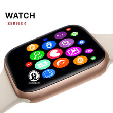 GOLD Color Smart Watch Series 4 Sport Smartwatch 42mm Clock for apple iphone 6 7 8 X plus for samsung Smart Watch honor 3 sony 2(China)
