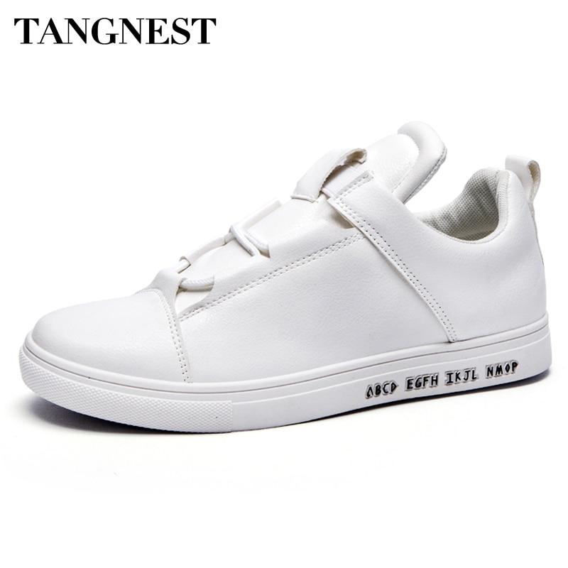 Tangnest Primavera Nuevos Hombres Zapatos Casual Hombres Zapatos de Cuero de La