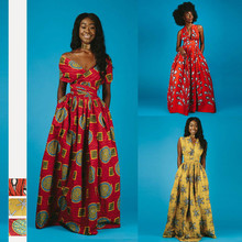 2019 new arrival summer sexy fashion style african women dashiki plus size long dress