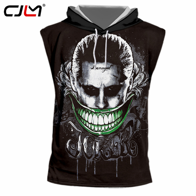 70ea075fa25e CJLM New Suicide Squad Men s 3D Tshirts With Hood Harley Quinn Joker Rick  Flag Sleeveless Hoodies Hombre Hip Hop Hooded Vest 7XL