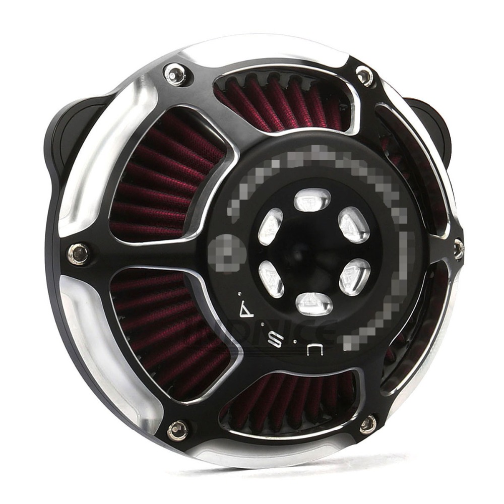 Moto PM harley sportster 883 harley air cleaner système d'admission d'air filtre à air Sportster 1200 Fer 883 Quarante Huit 09 -14
