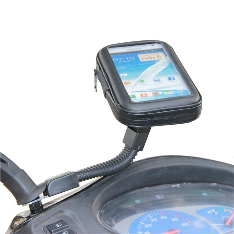 reputable site 66182 98fd3 US $8.89 |Motorcycle Waterproof Cell Phone Bag Stand Holder Motorbike Long  Stem Mount for Moto/iPhone 7/6s/6/plus/LG g6/g5/g4/g3/V20/Meizu-in Mobile  ...
