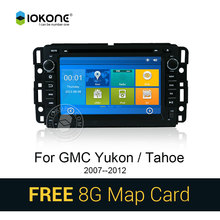 IOKONE Car DVD Video Player car radio GPS Stereo multimedia for Buick GMC Yukon Dual With Bluetooth touch GPS SWC free map card