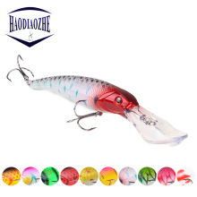 Купить с кэшбэком Large Minnow Fishing Lures 16.5cm 28g Wobblers Topwater Artificial Hard Bait 3D Laser Eyes Japan Bass Pike Fishing Pesca Tackle