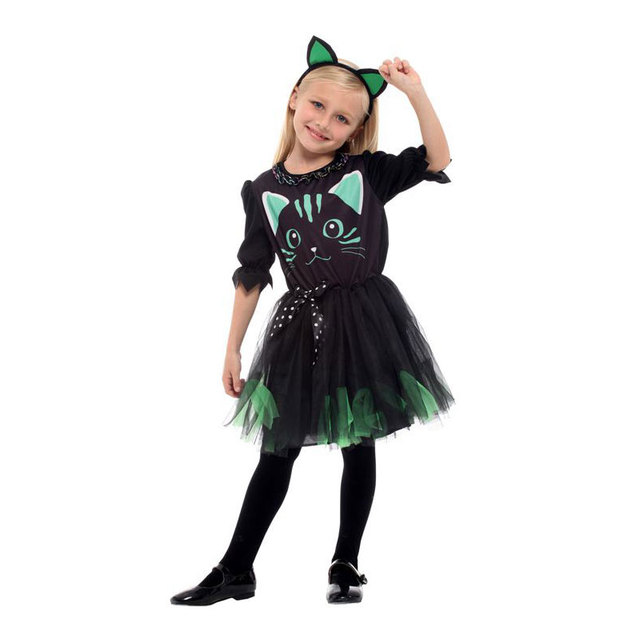Umorden Kid Girls Halloween Black Cat Costume Funny Tutu Dress Cute Kitty  Meow Party Outfit for Child Girl 4fc5892bbfb5