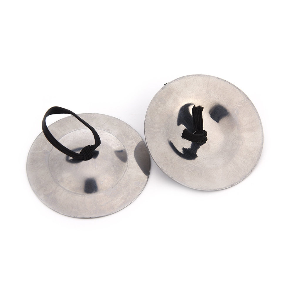 2PCs Finger Cymbal Belly Dance Finger Cymbals Instrument Parts  Accessories EF