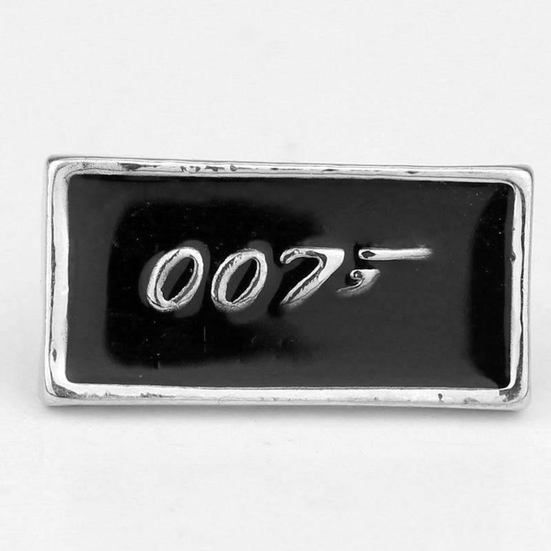 Guang Rong Jewelry James Bond Movie Jewelry 007 Brooch Badge Metal Accessories Nice Gift image