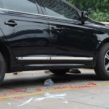 цена на KOUVI ABS Chrome Trim For Volvo XC60 XC 60 2014 2015 2016 Accessories Side Door Car Body Molding Cover 4pcs/set