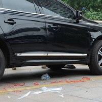KOUVI ABS Chrome Trim For Volvo XC60 XC 60 2014 2015 2016 Accessories Side Door Car Body Molding Cover 4pcs/set