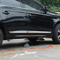 KOUVI ABS Chrome Trim For Volvo XC60 XC 60 2014 2015 2016 Accessories Side Door Car