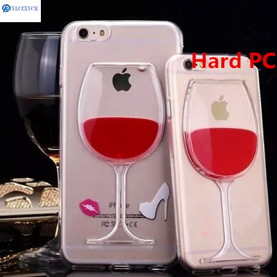 buy popular 7d54d 71826 US $2.48 |KIYLCZXYCM For IPhone X Case Red Wine Glass Clear Liquid and  Transparent Hard Back Cover on for IPhone 5 5S SE 6 6S 7 8 Plus-in  Half-wrapped ...