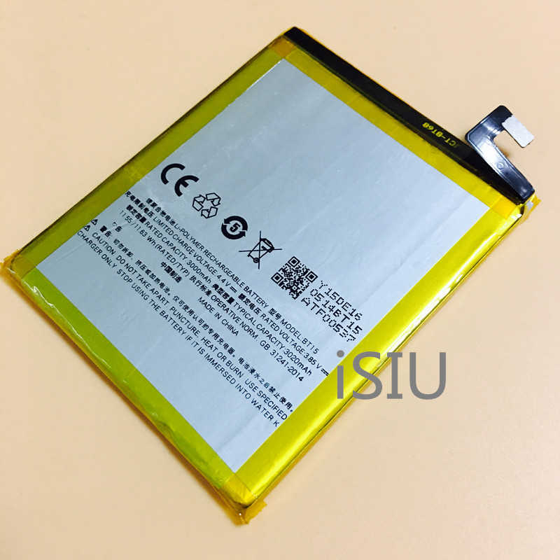 iSIU Phone Battery For Meizu M3s Mobile Phone Rechargeable Baterai BT15 3020mAh Internal Accessories Repair Tracking