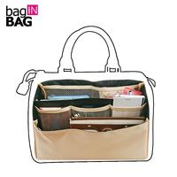 Quality Organizer Insert Bag In Bag For Brand Boston Bags Dual Package Folding Storage Bags Multi