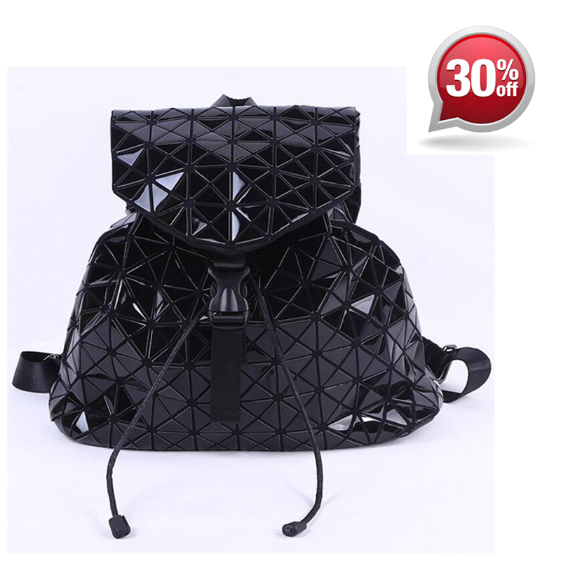 Hot Sale Bao Backpacks Women Geometric Student School Bag Shoulder Bag Travel Bags Hologram Backpack Laser Silver Backpack цена