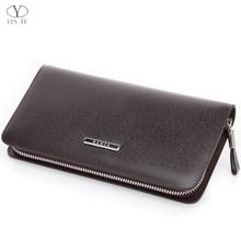 YINTE Men s Clutch Wallets Leather Men Purse Zipper Wallet Fashion Brand Clutch Bag Small Handbag