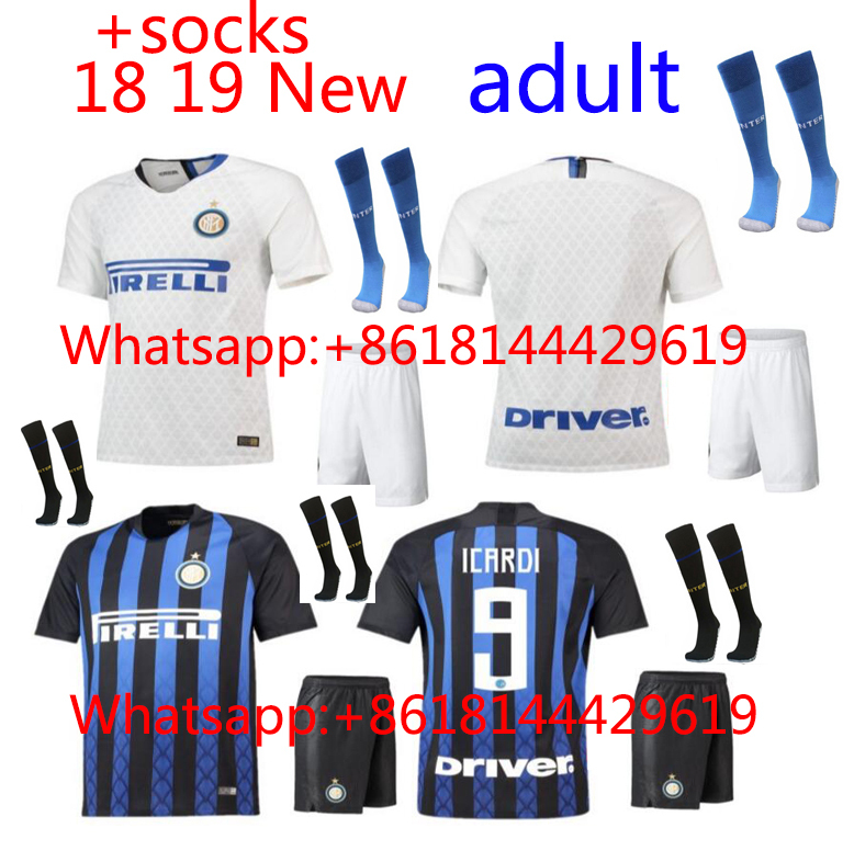 5151d806258 2018 2019 Inter Milan jersey Home Away football camisetas Thai AAA shirt  survetement football Soccer jersey