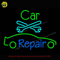 Car Repair Neon Sign Automotive Neon Bulb Tool Neon Sign Metal Sign Garage Glass Tube Handcrafted