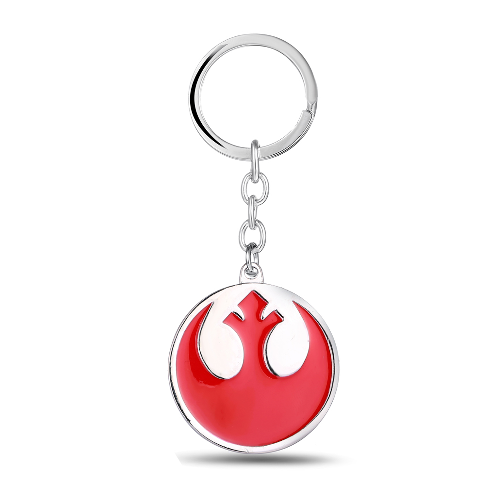 Star Wars The Rebel Alliance Keychain Silver Metal Key Rings For Gift Chaveiro Key Chain Jewelry For Cars YS10967