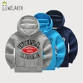 Мальчики Толстовки для Подростков 8-14 лет: Письма Моды Моделей Большой Мальчик Спортивный Костюм Повседневная Детская Одежда Хлопок пуловер Детей