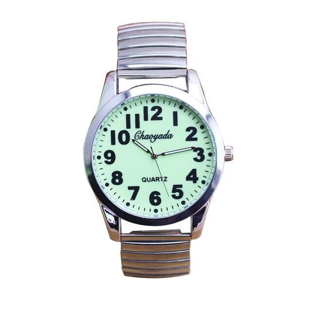 Unisex svietiace hodinky Ligeno z ocele