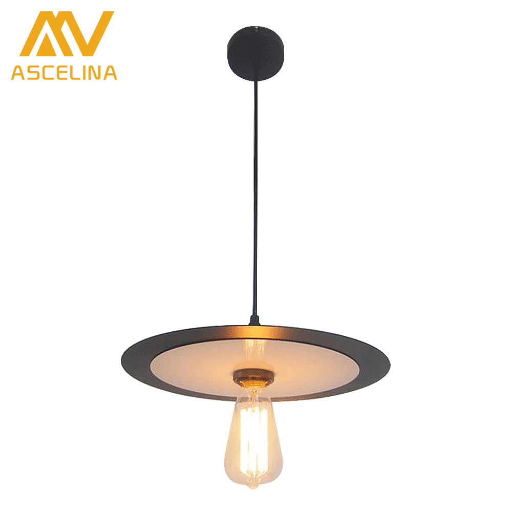 Nordic vintage metal pendant lights Creative LOFT flying saucer UFO shape lamp for cafe restaurant store office art deco купить
