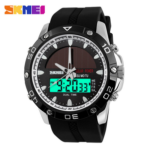 Image 2 - 50M Waterproof Solar Watches Outdoor Military Men Sports Watches Solar Power Digital Quartz Watch Dual Time Men Casual Watch