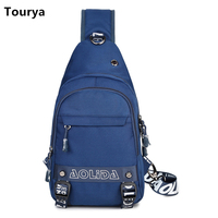 Tourya Casual Canvas Crossbody Bags For Men Messenger Bag Men S Chest Bag Fashion Travel Shoulder