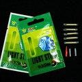 Kkwezva 25 unids o 50 unids Pesca noche luz fluorescente float glow stick lightstick 4.5*37mm y 3 * 25mm Pesca tackle montaje