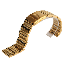 Luxury Golden Cool Watch Band Mesh Watches Strap 20cm 22cm 24cm Stainless Steel Bands Replacement Strap for Hour Clock
