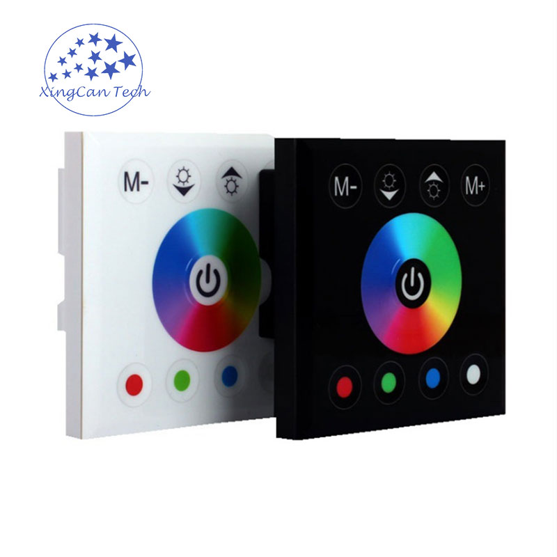 LED Dimmer Touch Control Panel RGBW Controller RGB Strip Controller DC12V To DC24V Available For Dimmable Led Bulb And Spotlight zigbee bridge led rgbw 5w gu10 spotlight color changing zigbee zll led bulb ac100 240v led app controller dimmable smart led