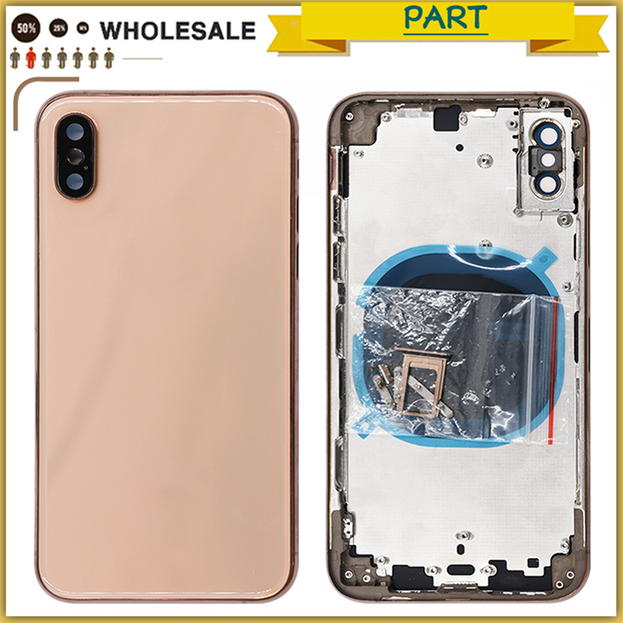 New XR Full Housing Case For iPhone XR Battery Back Cover Door Rear Housing case Metal Middle Frame Chassis For iPhone XS MaxNew XR Full Housing Case For iPhone XR Battery Back Cover Door Rear Housing case Metal Middle Frame Chassis For iPhone XS Max