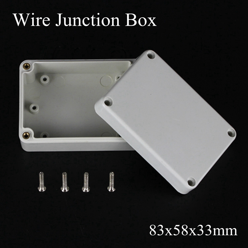 83x58x33mm ABS Plastic Electronic Project Waterpoof Wire Junction Box Cable Connector Sealed Enclosure Case 83*58*33mm