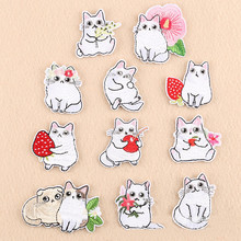 DOUBLEHEE Small Many Cat Animal Patches Embroidered Iron On Patch For Clothing Sticker Paste Clothes Bag Pants