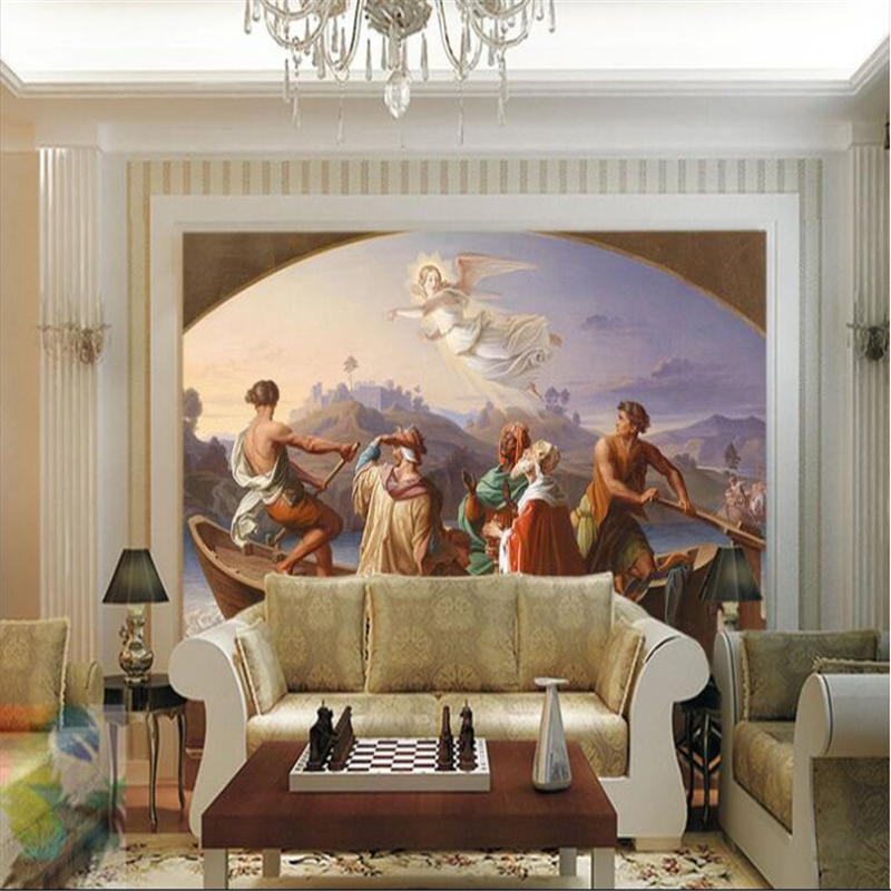 Beibehang Large Custom Wallpaper Mural Angel Pathfinder European Oil Painting Background Wall Papel De Parede Infantil In Wallpapers From Home Improvement