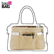 Purse Organizer Insert Bag in Bag Organizer For Brand Trapezoidal Bags(Small Top Big Bottom); Tas Organizer Organizador Bolsa