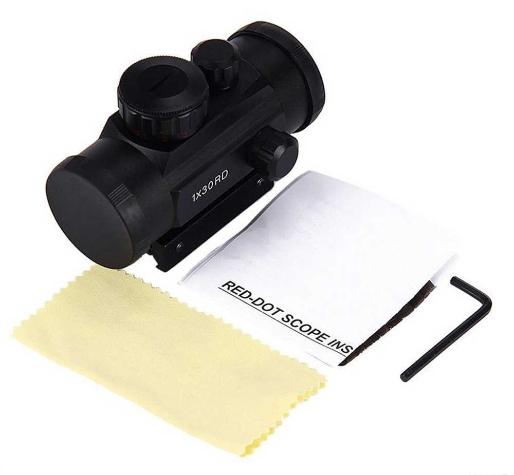 Tactische 1X30 Holografische Dot Sight Airsoft Rood Groen Dot Sight optics Hunting Scope 11mm 20mm Rail mount Collimator Si