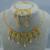 Conjunto de Jóias Colar Brincos Pulseira-Banhado A Ouro Egito árabe/Oman/Irã/Oriente médio/Casamento Peru conjunto de Jóias Africano