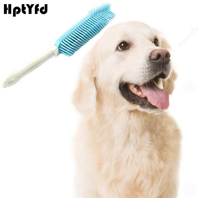 Pet Dog Bath Brush Kočka štěně Sticky Lepší odstranění vlasů Hřeben kaučuk pro domácí potřeby pro psy Depilace měkké silikonové vlasy nástroj