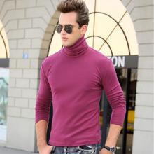 Футболка мужская футболка с длинным рукавом Водолазка футболки зима весна тонкая Термофутболка s хлопок Удобная модная теплая