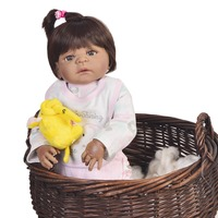 Baby Reborn Babe Doll black Silicone vinyl doll Sweet smile Silicone Dolls menina Doll Christmas Gift Child companion 55cm toy