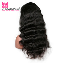 DreamDiana Malaysian Hair 360 Lace Wig Remy Body Wave 360 Lace Wig 150 Density Pre Plucked 360 Lace Wig 3-4 Days Fast Delivery(China)