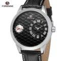 Мужские автоматические механические наручные часы от ведущего бренда Forsining  роскошные неясные дизайнерские часы из натуральной кожи с отоб...