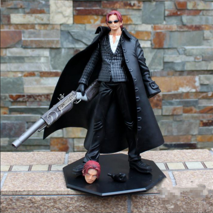 One Piece POP Strong World Shanks Red Haired Strong Edition PVC Action Figure Collectible Model Toy 24cm KT3121  funko pop games illidan 14 pvc action figure collectible model toy 4 10cm kt2242
