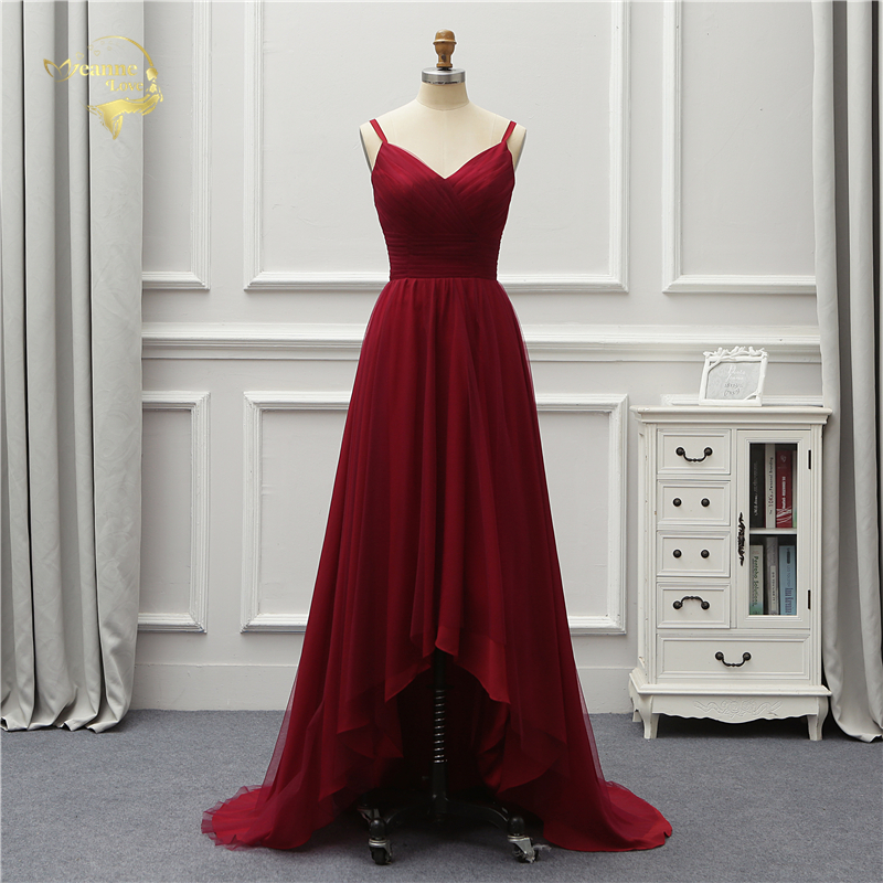 Jeanne Love Formal Luxury Long Evening Dress 2019 New Arrival Front Short Long Back Party Robe